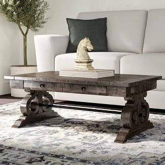 Ellenton Trestle Coffee Table with Storage