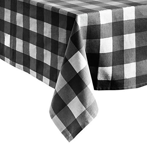 Elrene Home Fashions Farmhouse Living Buffalo Check Tablecloth 60 X 84 BlackWhite 0