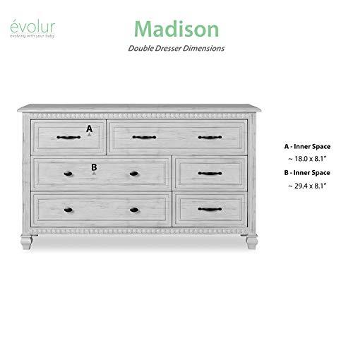 Evolur Madison Double Dresser Antique Grey Mist 0 5