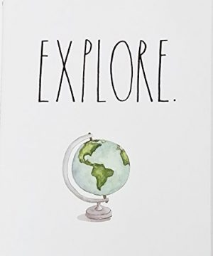 Explore World Globe Rae Dunn Notebook With Lined Pages Diary Journal Memo Notepad Notes Organize Lists Office School Work Home 0 300x360