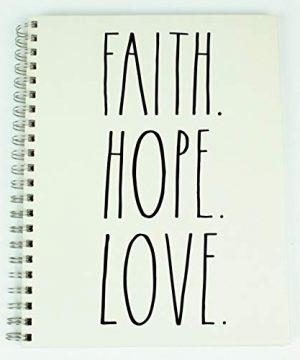 FAITH HOPE LOVE Rae Dunn Large Hard Cover Spiral Notebook 0 300x360