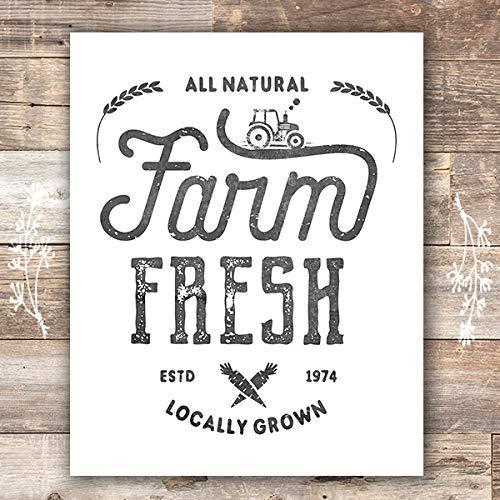 Farmhouse Decor Kitchen Art Prints Set Of 4 Unframed 8x10s 0 1