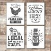 Farmhouse Decor Kitchen Art Prints Set Of 4 Unframed 8x10s 0 100x100