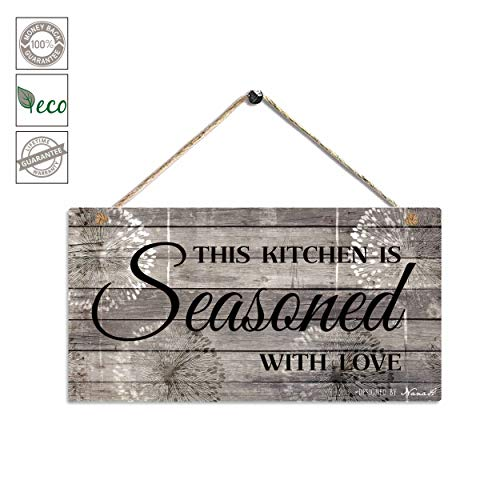Sac Smarten Arts Farmhouse Kitchen Decor Rustic Signs Wall Printed Wood Art This Is Goals