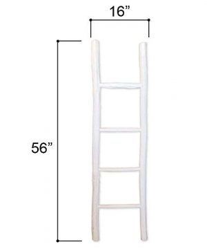 Fifth Nest Blanket Ladder White Shelf Rustic Farmhouse Home Decor Wooden 5 Foot To Display Blankets Quilts Towels And Linens 0 1 300x360