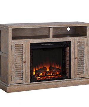 Furniture HotSpot Farmhouse Electric Fireplace TV Stand Burnt Oak 48 W X 15 D X 32 H 0 0 300x360