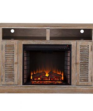 Furniture HotSpot Farmhouse Electric Fireplace TV Stand Burnt Oak 48 W X 15 D X 32 H 0 300x360