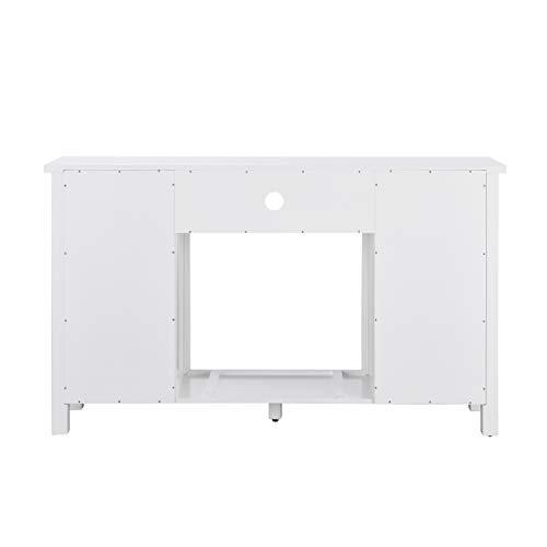 Furniture HotSpot Adderley Smart White Media Fireplace WStorage 0 3