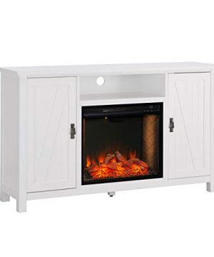 Furniture HotSpot Adderley Smart White Media Fireplace WStorage 0 300x360