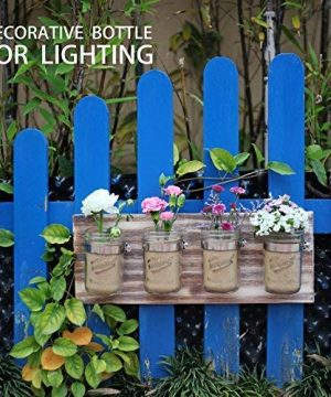 GBtroo Bathroom Decor Mason Jar Farmhouse Decor Bathroom Organizer Farmhouse Kitchen Gift Ideal For Hanging On Wall Kitchen Storage Light Coffee 0 2 300x360