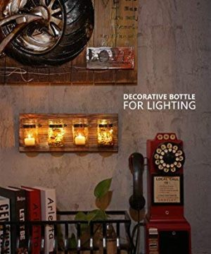 GBtroo Bathroom Decor Mason Jar Farmhouse Decor Bathroom Organizer Farmhouse Kitchen Gift Ideal For Hanging On Wall Kitchen Storage Light Coffee 0 4 300x360