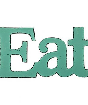 Generic Eat Turquoise Wooden Farmhouse Kitchen Wall Plaque TURQUOISE 0 300x360