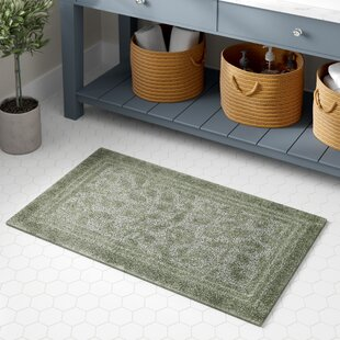 Gengler+Nylon+Non-Slip+Floral+Bath+Rug