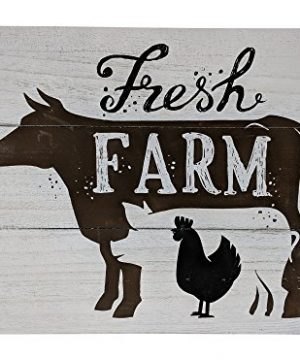 Giannas Home Rustic Farmhouse Distressed Wood Plank Board Sign Fresh Farm 0 300x360