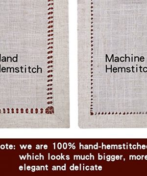 Grelucgo Handmade Double Hemstitch Natural Tablecloth Oval 60 By 84 Inch 0 1 300x360