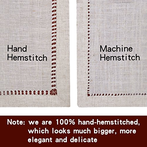 Grelucgo Handmade Double Hemstitch Natural Tablecloth Oval 60 By 84 Inch 0 1