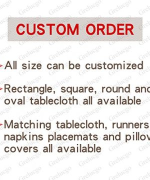 Grelucgo Handmade Double Hemstitch Natural Tablecloth Oval 60 By 84 Inch 0 2 300x360