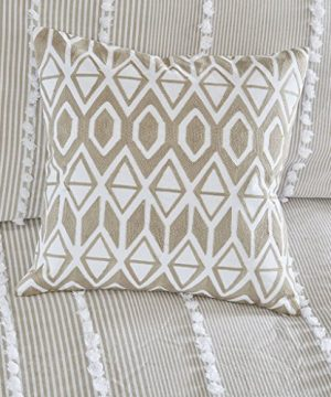 Harbor House Anslee Embroidered Cotton Square Decorative Pillow Taupe 18x18 0 300x360