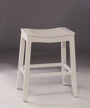 Hillsdale Furniture Fiddler Backless Counter Height Saddle Stool White 0 0 300x360