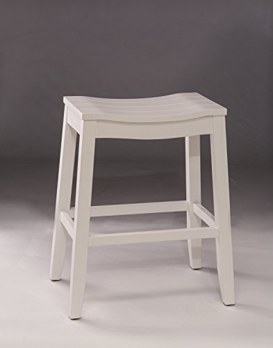 Hillsdale Furniture Fiddler Backless Counter Height Saddle Stool White 0 0