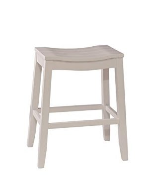 Hillsdale Furniture Fiddler Backless Counter Height Saddle Stool White 0 300x360