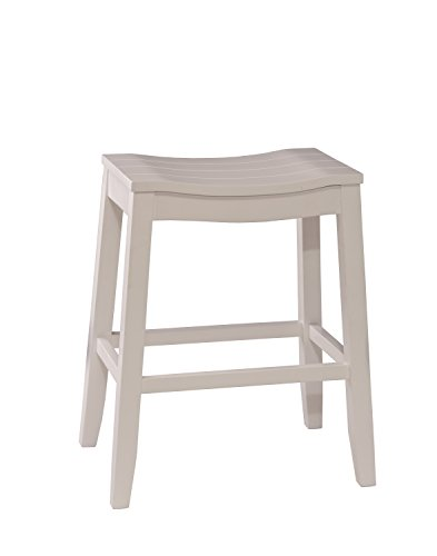 Hillsdale Furniture Fiddler Backless Counter Height Saddle Stool White 0