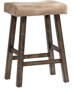 Hillsdale Furniture Saddle Counter Stool Rustic Gray 0 300x360