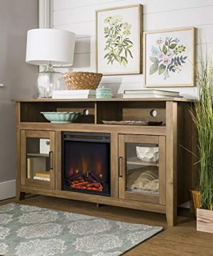 Home Accent Furnishings Lucas 58 Inch Highboy Fireplace TV Stand In Rustic Oak 0 0 300x360