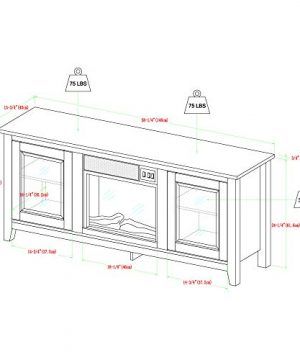 Home Accent Furnishings Lucas 58 Inch Television Stand With Fireplace In White Oak 0 4 300x360