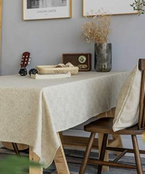 Home Brilliant Burlap Tablecloth Solid Farmhouse Checker Table Covers For Party Kitchen Indoor Outdoor Table Clothes For Dining Table 52x102 Inch Natural Linen 0 1 300x360