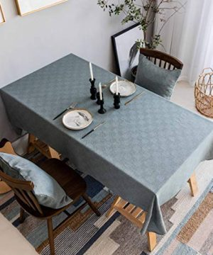Home Brilliant Tablecloth Solid Farmhouse Checker Table Covers For Party Kitchen Indoor Outdoor Table Clothes For Dining Table 52x102 Inch Greish Blue 0 300x360