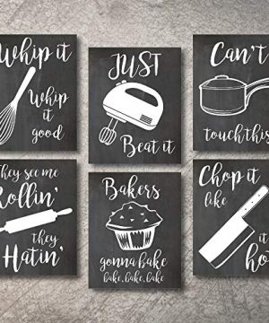 Home Decor Funny Gift 6 Kitchen Wall Art Prints Kitchenware With Sayings Unframed Farmhouse Home Office Organization Signs Bar Accessories Decorations Sets White House Deco Kitchen Decor 5x7 0 300x360