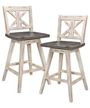 Homelegance Amsonia Counter Height Swivel Stool 2 Pack White 0 300x360