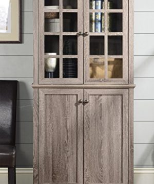 Homestar Glass Cabinet In Reclaimed Wood Finish 0 300x360