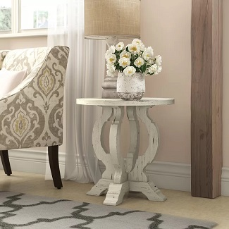 Indurial Pedestal Accent Table