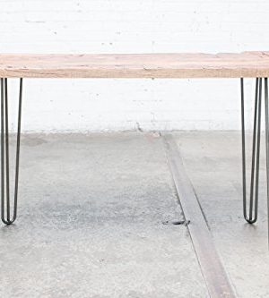 Industrial By Design 28 Hairpin Table Legs Raw Steel Elegant Mid Century Modern Three Rod Design Premium Heavy Duty Build Easy DIY Installation Set Of 4 0 3 300x333
