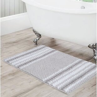Irvine+Rectangular+Polyester+Non-Slip+Striped+Bath+Rug