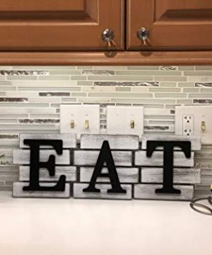 Kitchen Decor Wall Art Country Decor Rustic Farmhouse Decor For The Home EAT Sign Decorative Wall Art 0 1 300x360