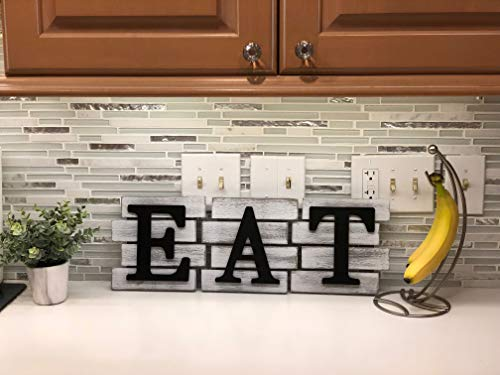 Kitchen Decor Wall Art Country Decor Rustic Farmhouse Decor For The Home EAT Sign Decorative Wall Art 0 1