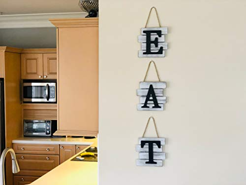 Kitchen Decor Wall Art Country Decor Rustic Farmhouse Decor For The Home EAT Sign Decorative Wall Art 0 4