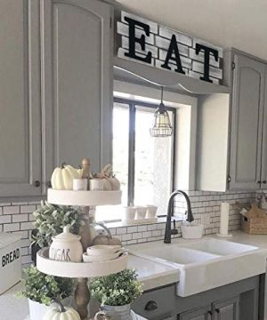 Kitchen Decor Wall Art Country Decor Rustic Farmhouse Decor For The Home EAT Sign Decorative Wall Art 0 5 300x360