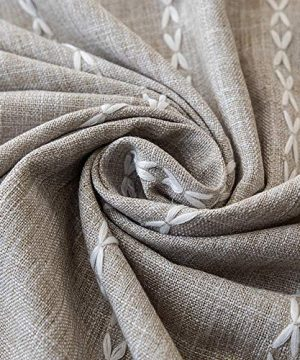 Lahome Embroidery Stripe Tassel Tablecloth Heavy Weight Cotton Linen Washable Table Cover For Kitchen Dining Room Restaurant Party Decoration Linen Rectangle 55 X 70 0 3 300x360