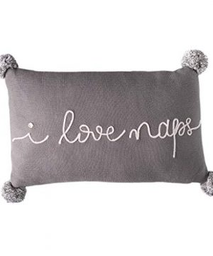 Linen Perch I Love Naps Decorative Throw Pillow And Insert Dorm Room Decor Room Decor For Teen Girls Baby Nursery Pillow Gift For Girlfriend Or Baby 16 Inches X 10 Inches Grey 0 300x360