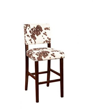 Linon Udder Madness Corey Bar Stool 19W X 225D X 4475H Brown 0 300x360