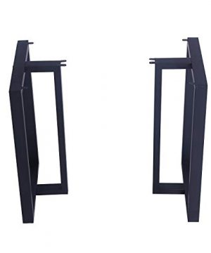 MBQQ Furniture Legs 28Height 175Wide Rustic Decory T Shape Table LegsHeavy Duty Metal Desk LegsDining Table LegsIndustrial Modern DIY Iron Bench Legs 0 0 300x360