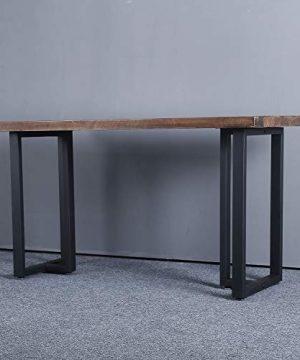 MBQQ Furniture Legs 28Height 175Wide Rustic Decory T Shape Table LegsHeavy Duty Metal Desk LegsDining Table LegsIndustrial Modern DIY Iron Bench Legs 0 2 300x360