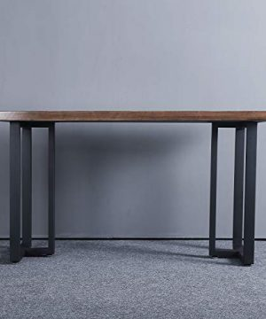 MBQQ Furniture Legs 28Height 175Wide Rustic Decory T Shape Table LegsHeavy Duty Metal Desk LegsDining Table LegsIndustrial Modern DIY Iron Bench Legs 0 3 300x360