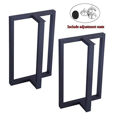 MBQQ Furniture Legs 28Height 175Wide Rustic Decory T Shape Table LegsHeavy Duty Metal Desk LegsDining Table LegsIndustrial Modern DIY Iron Bench Legs 0