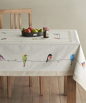 Maison D Hermine Birdies On Wire 100 Cotton Tablecloth 54 Inch By 72 Inch 0 0 300x360