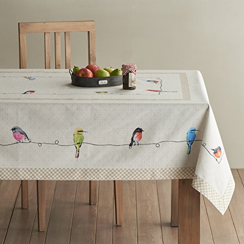 Maison D Hermine Birdies On Wire 100 Cotton Tablecloth 54 Inch By 72 Inch 0 0